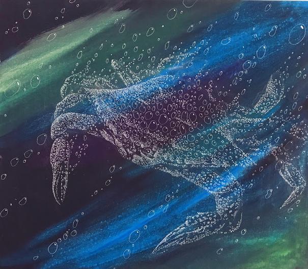 蟹の泡の絵