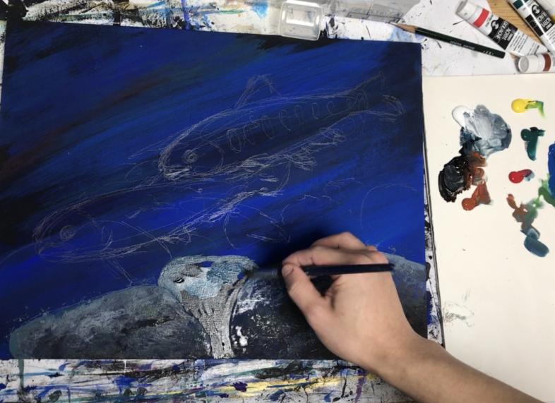 ヤマメの魚の絵