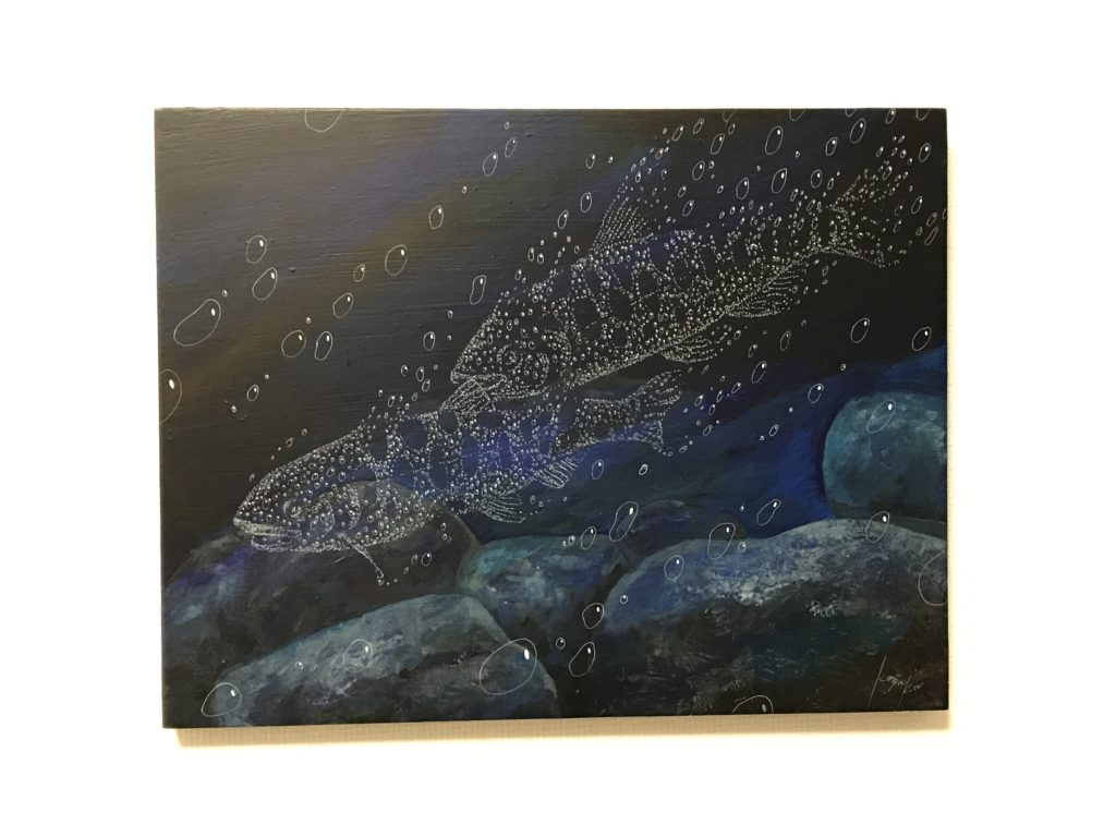 魚のヤマメの絵結婚式オーダー