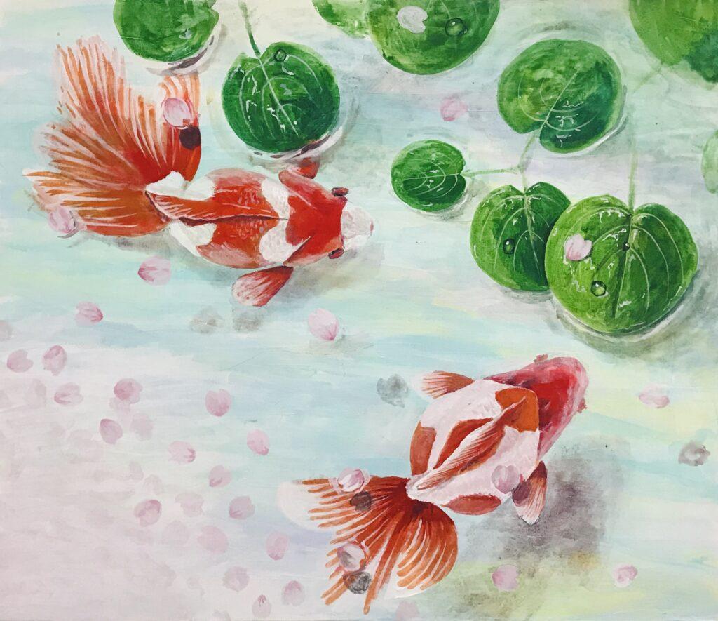 魚の絵オーダー金魚